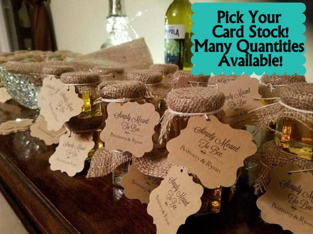 Wedding Favor Tags, Honey Jar Simply Meant To Bee Tags
