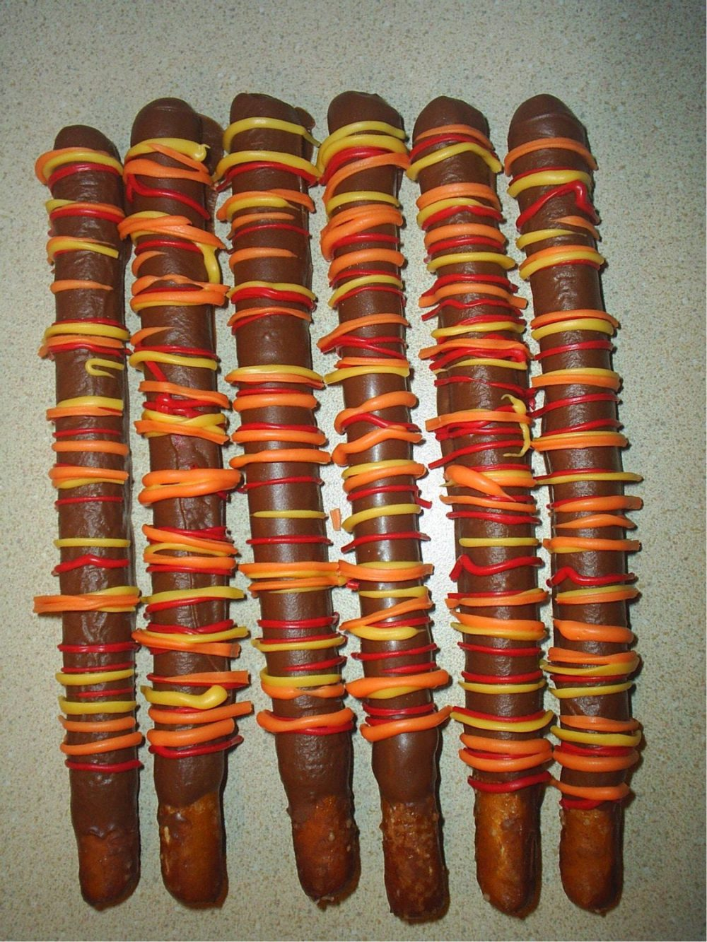Fall Party Favors Chocolate Covered Pretzels Orange Thanksgiving Gifts Hostess Autumn Candy Wedding