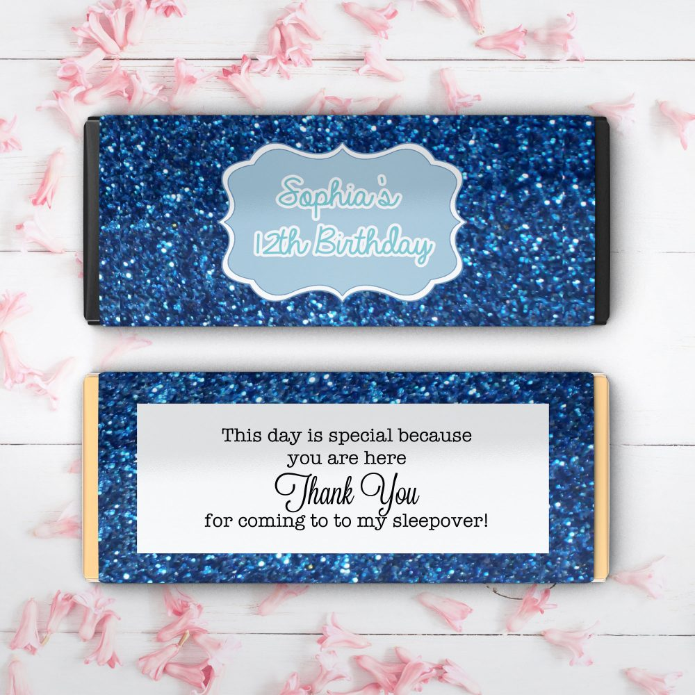 Large Birthday Hershey Candy Bar Wrappers | Milestone Bridal Shower Weddings Retirement Favors Fits 1.55 Oz | Set Of 12