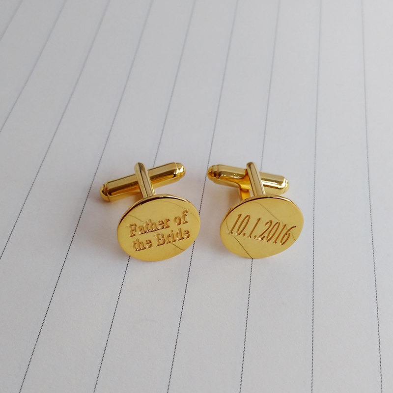 Wedding Date Cufflinks, Groom Cufflinks, Father Of The Bride Cufflinks, Personalized Gift From Bride, Father's Day