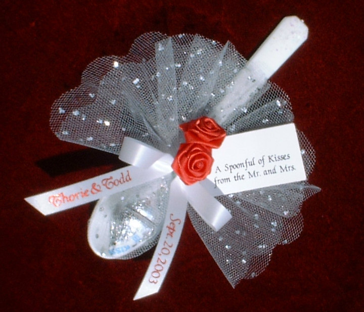 """Personalized Favors """"Spoonful Of Kisses"""" For Wedding, Rehearsal Dinner, Anniversary Or Bridal Shower, Hershey Kisses Style #sp500"""