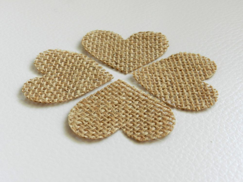 50-200 Stiffened Heart Shaped Table Scatter, Confetti, Burlap Hearts, Wedding Decor, Wedding, Scatter Heart