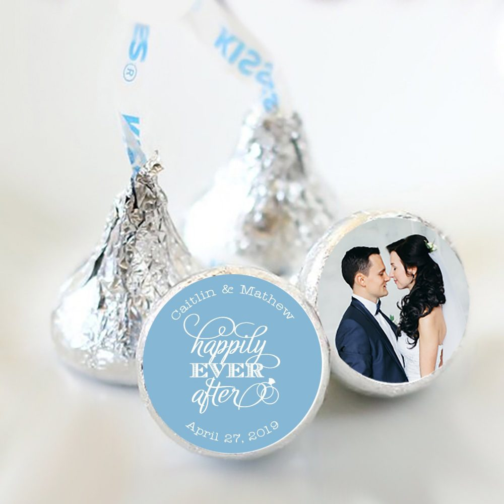 """Personalized Happily Ever After Hershey Kiss® Stickers 