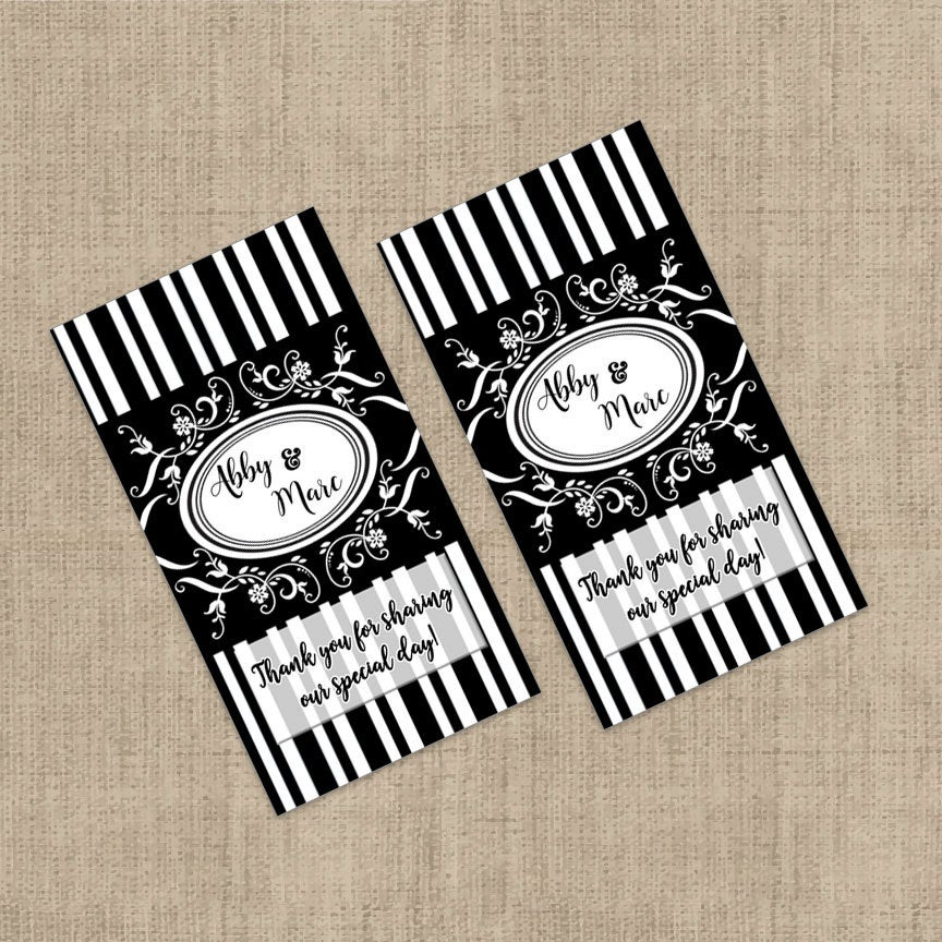 Hershey's Miniatures Chocolate Wrappers - Mini Wedding Decor Favors Wrapper