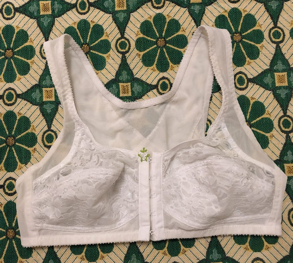 Vintage 1980S White Lace Bra Body Shaper Bustier Retro Boho Lingerie Front Hook Pin Up Burlesque Wedding Size 36B