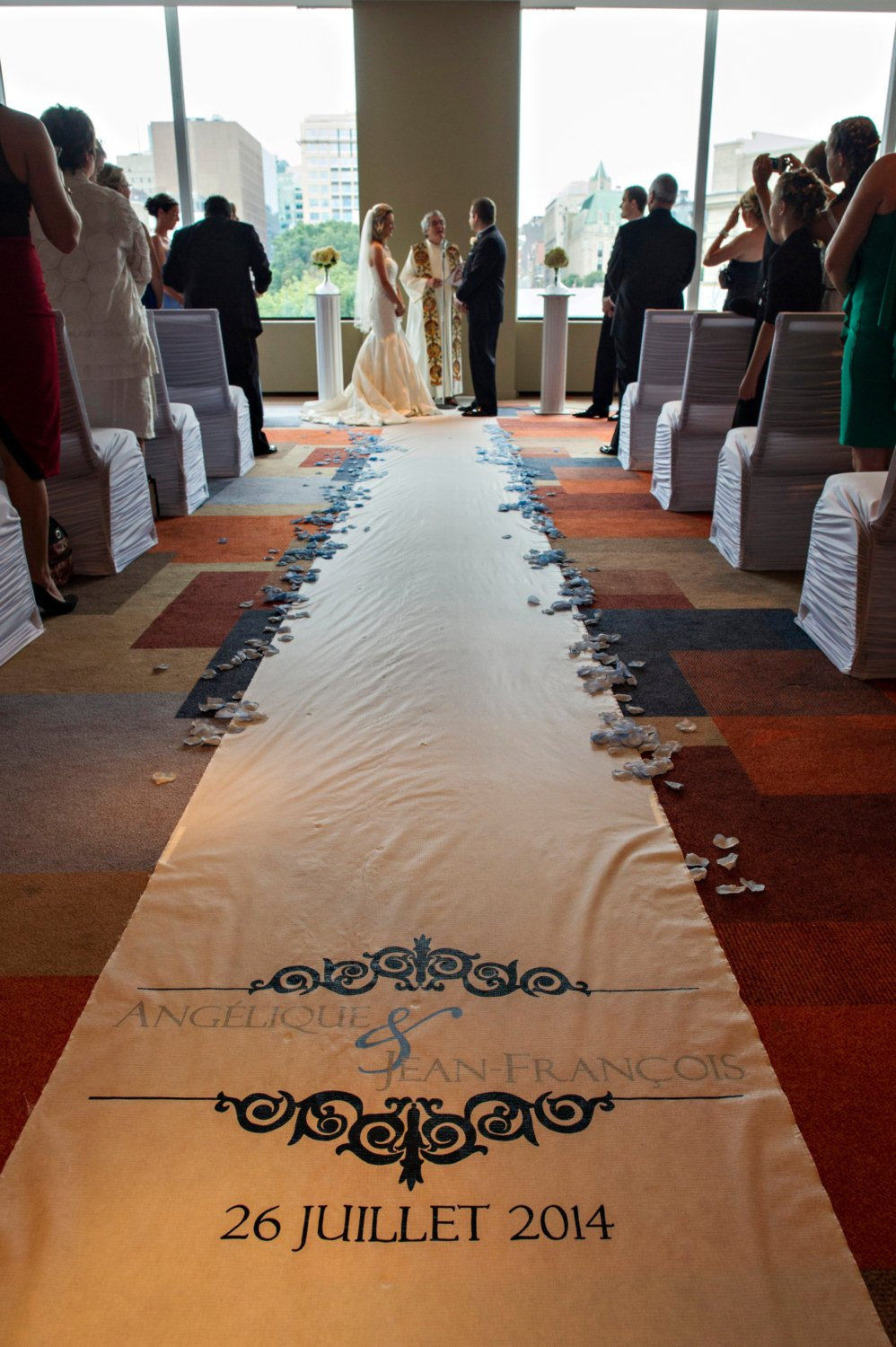 Wedding Aisle Runner White Isle Ceremony Decoration Decor Monogram Custom Carpet Church