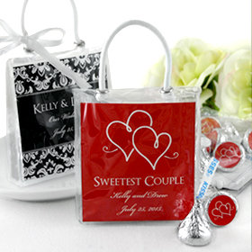 Hershey Kisses Mini Gift Tote Silhouette Collection Goodie Sweets Totes Loot Bags Baby Shower Wedding Party Guest Host Favor Thank You