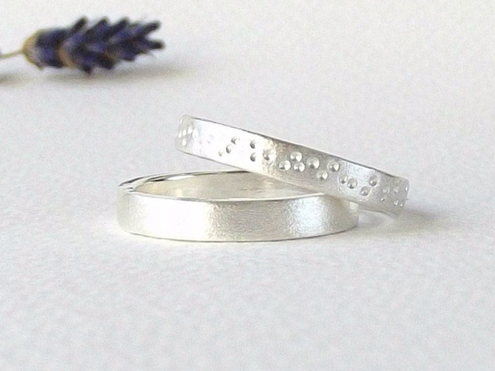 sterling Silver Ring -Matte Silver Ring-sterling Band-Silver Wedding Ring-Silver Band-Handcrafted Ring-Commitment Ring