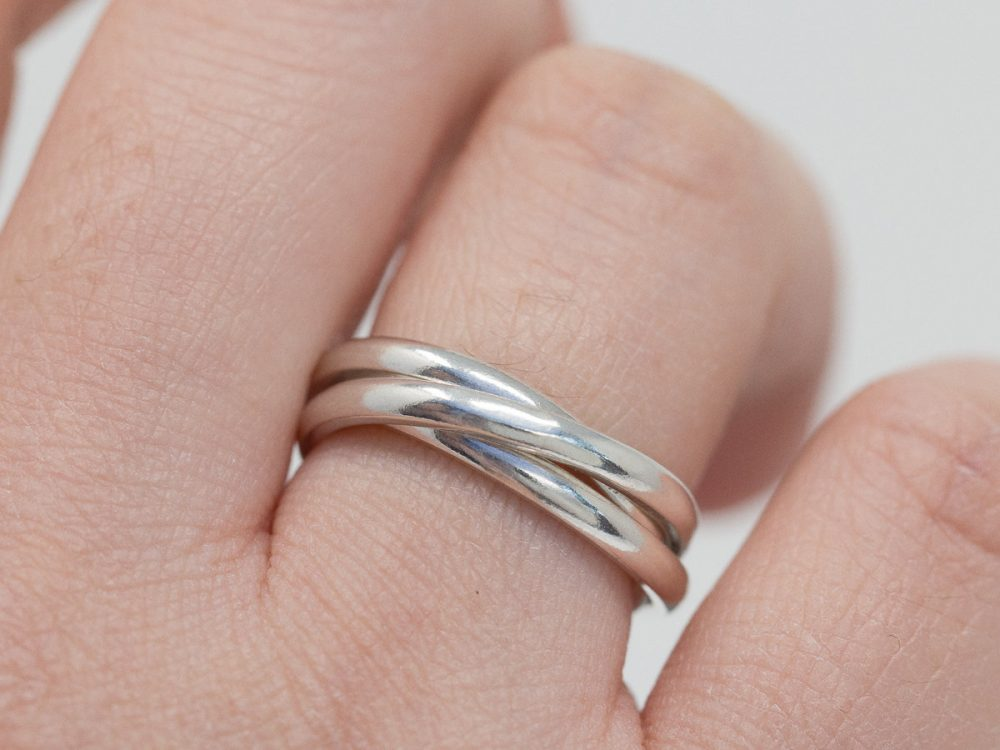 sterling Silver Russian Wedding Ring|sterling Band|Silver Trinity Ring|Silver Band|Gift For Her