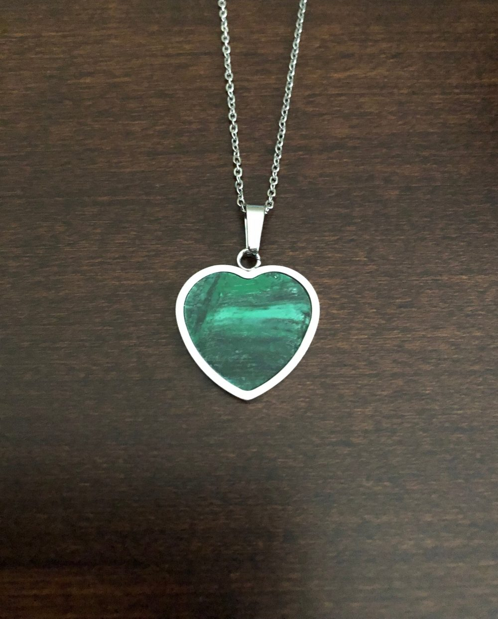 Heart Necklace, Green Heart, Jewelry, Pendant Pendant, Gifts, Gifts For Her