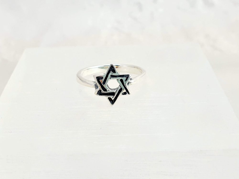 Star Of David 925 Sterling Silver Band Ring, Jewish Christian Ring Jewelry Gifts