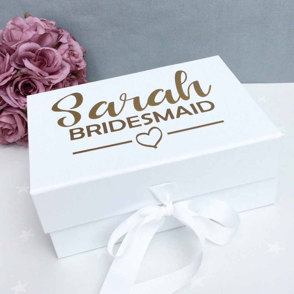 Bridesmaid Proposal Box, Gift Thank You For Being My Bridesmaid, Bridesmaid Keepsake, Proposal