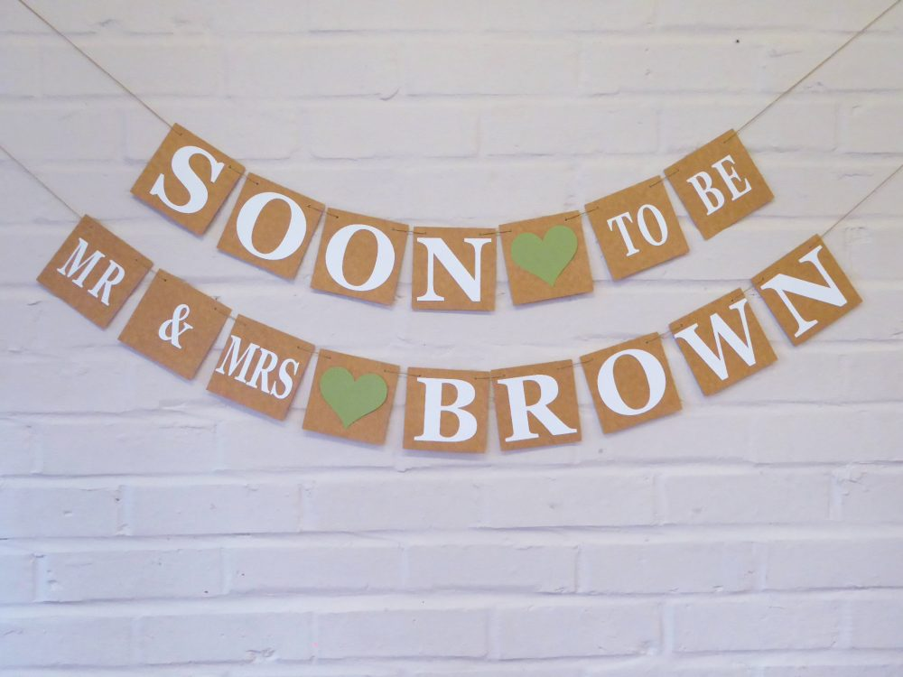 Engagement Party Decoration, Soon To Be Mr & Mrs Bunting, Sage Engagement, Wedding Shower Banner