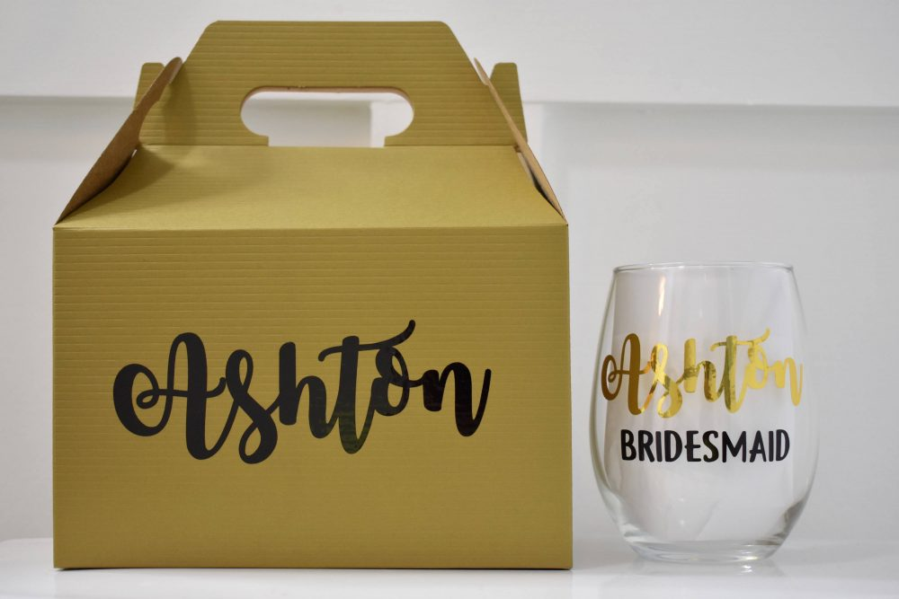 Bridesmaid Proposal Box Stemless Wine Glass, Morning Of Wedding Gift, Will You Be My Bridesmaid, Personalized Gift