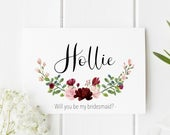 Personalised Bridesmaid Card Will You Be My Bridesmaid Card Bridesmaid Proposal Card