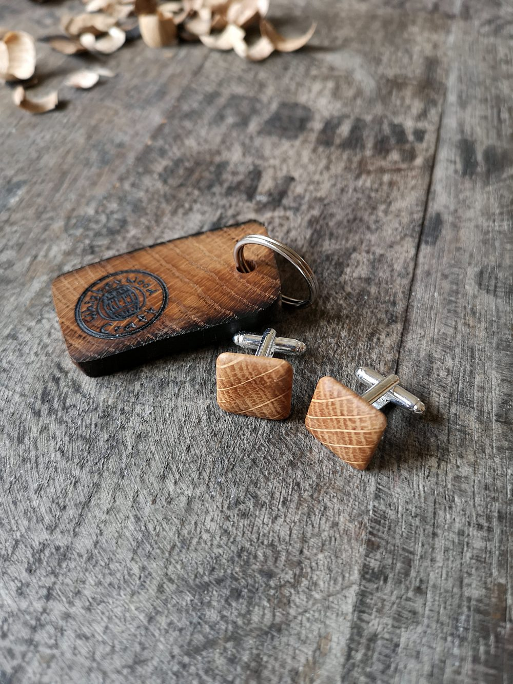 Irish Whiskey Barrel Cufflinks With Keyring. Unique Gifts For Him, Husband Gift, Anniversary Gift, Whiskey Lover, Gifts Men, Groomsmen Gift