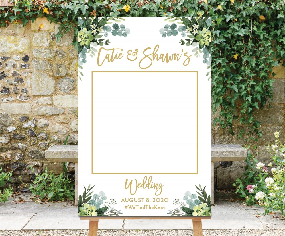 Wedding Photo Prop, Greenery Booth Frame, Decoration, Selfie Bridal Shower, Picture Rustic, Printable