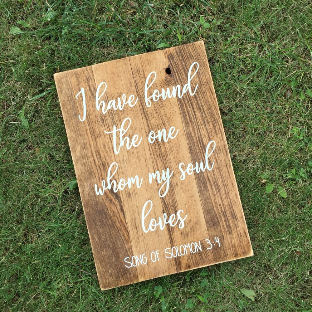 Barn Wedding Decor | Rustic Wood Sign Shower Gift Gift For Couple
