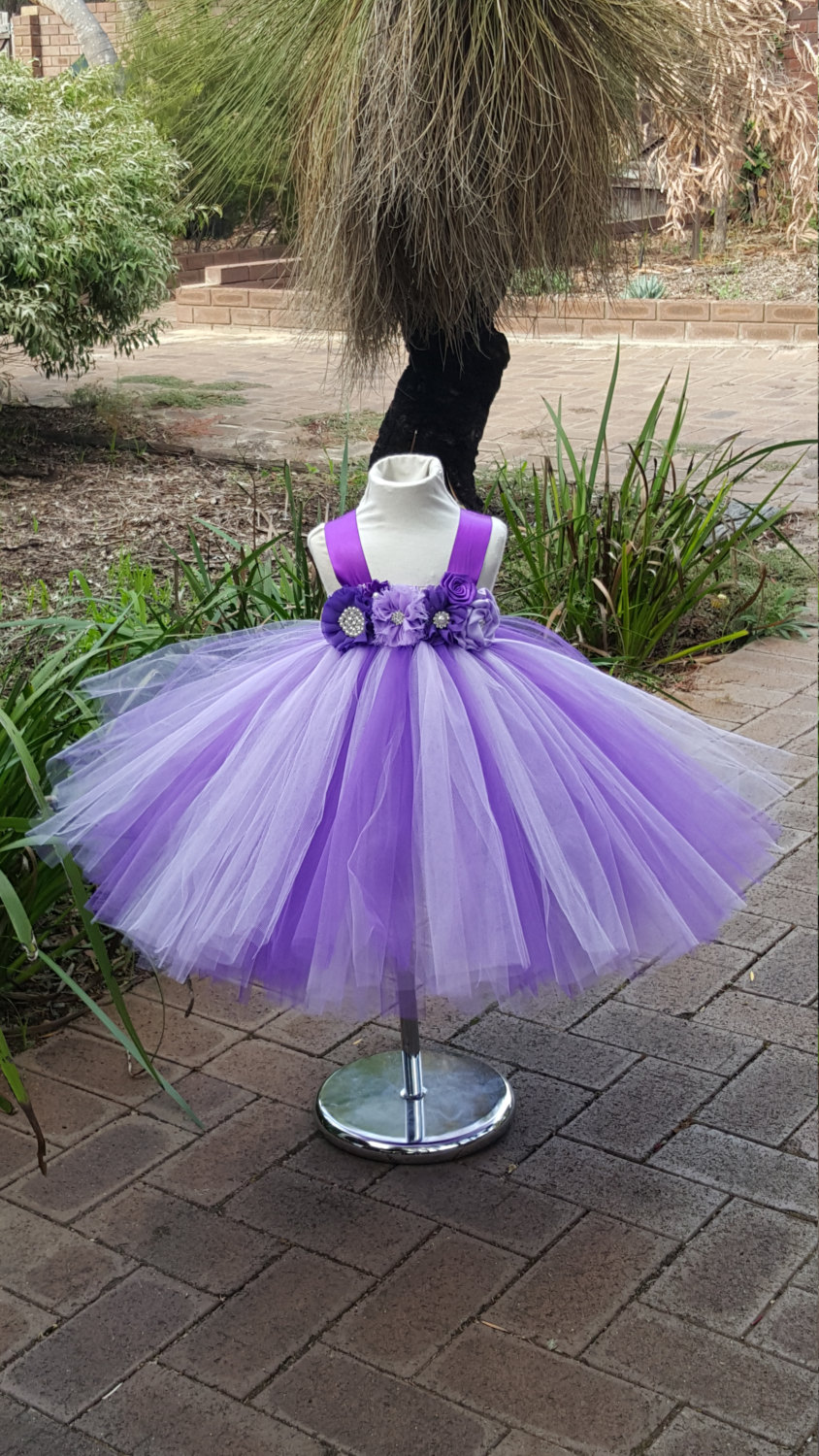 Princess Tutu Dress- Purple Lavender - Birthday, Wedding, Flower Girl Dress- Dresses