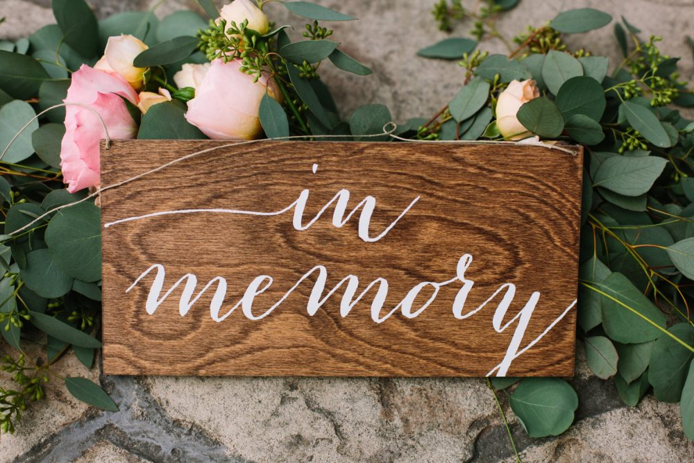 In Memory Sign, Wedding Reserved Sign, Wedding Chair Hanging Wood Signs, -Nc