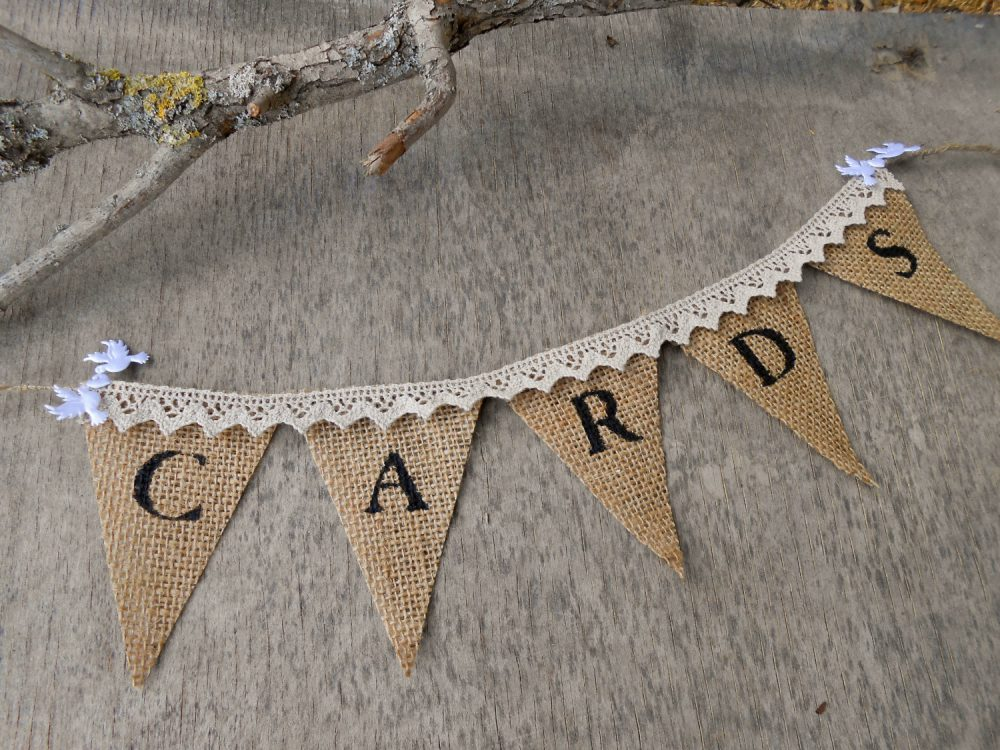 Cards Bunting Burlap Banner French Wedding Sign Shower Lace Card Box