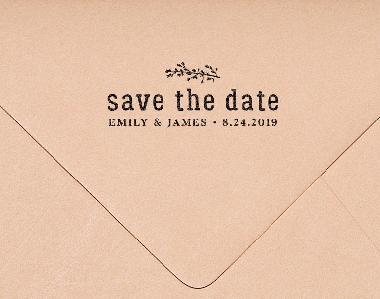 Save The Date Stamp, Wedding Dates, Invitation Rustic Hw113