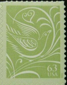Twenty | 20 Unused Wedding Postage Stamps - Dove & Heart // 63 Cent Face Value 12.60