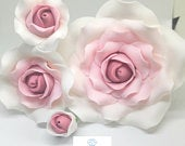 SUGAR ROSE FLOWERS Ombre wedding cake birthday cake topper decoration (wired) 4 sizes multi buy pay 1 flat rate postage cost