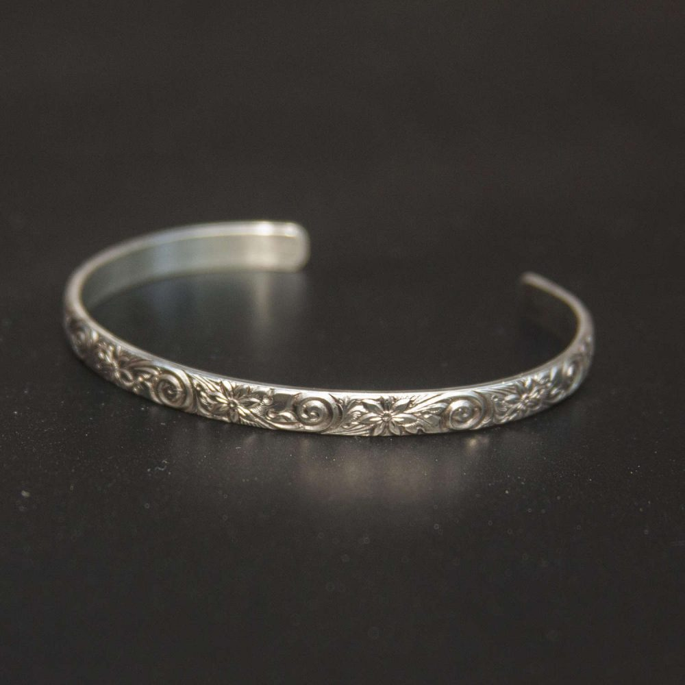 Handwriting Thin Bracelet, Sterling Silver
