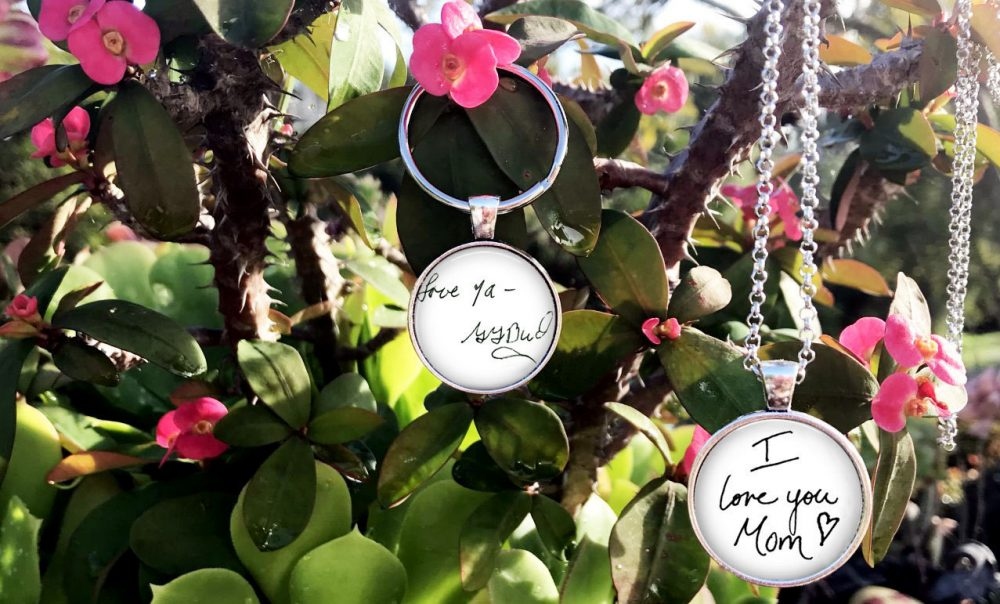 Handwriting Charm Necklace - Your Loved Ones Or Signature Child's Ones Handwriting