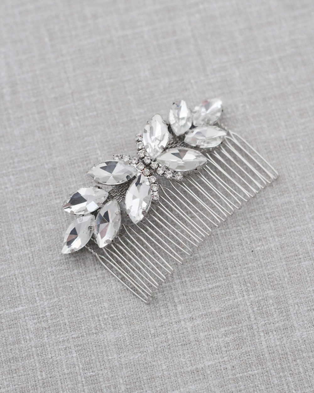 Preorder - Butterfly Jeweled Bridal Comb, Wedding Hair Rhinestone Jewelry, Bride Pins