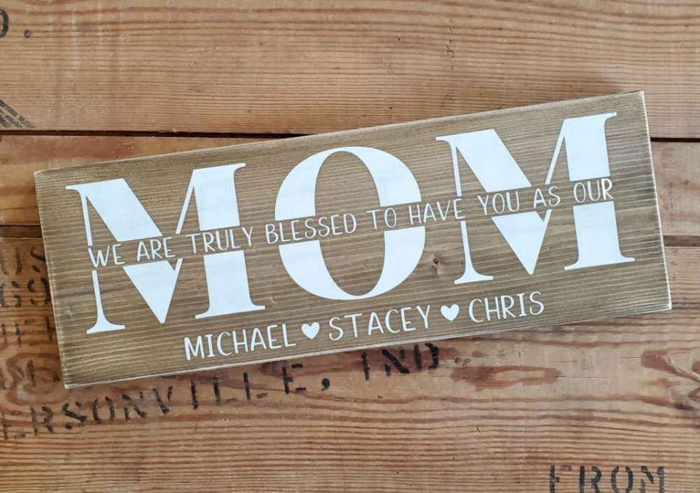 Mother Wood Sign. Rustic Mother Sign, Farmhouse Style Mothers Day Signs, Gifts For Moms, Gifts, Signs Mom