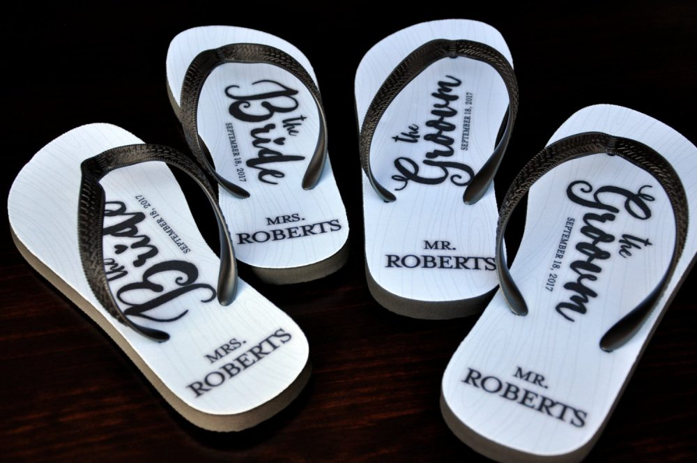 Mr & Mrs Bridal Flip Flops, Custom Mr & Mrs Bride, Just Married Custom, Slippers