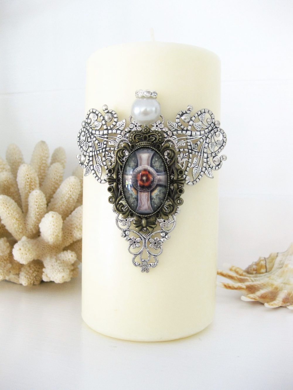 Angel Pillar Candles, in Memory Of Sympathy Gift, Candle Pin, Tack, Home Decor Decorations, Housewarming Gift