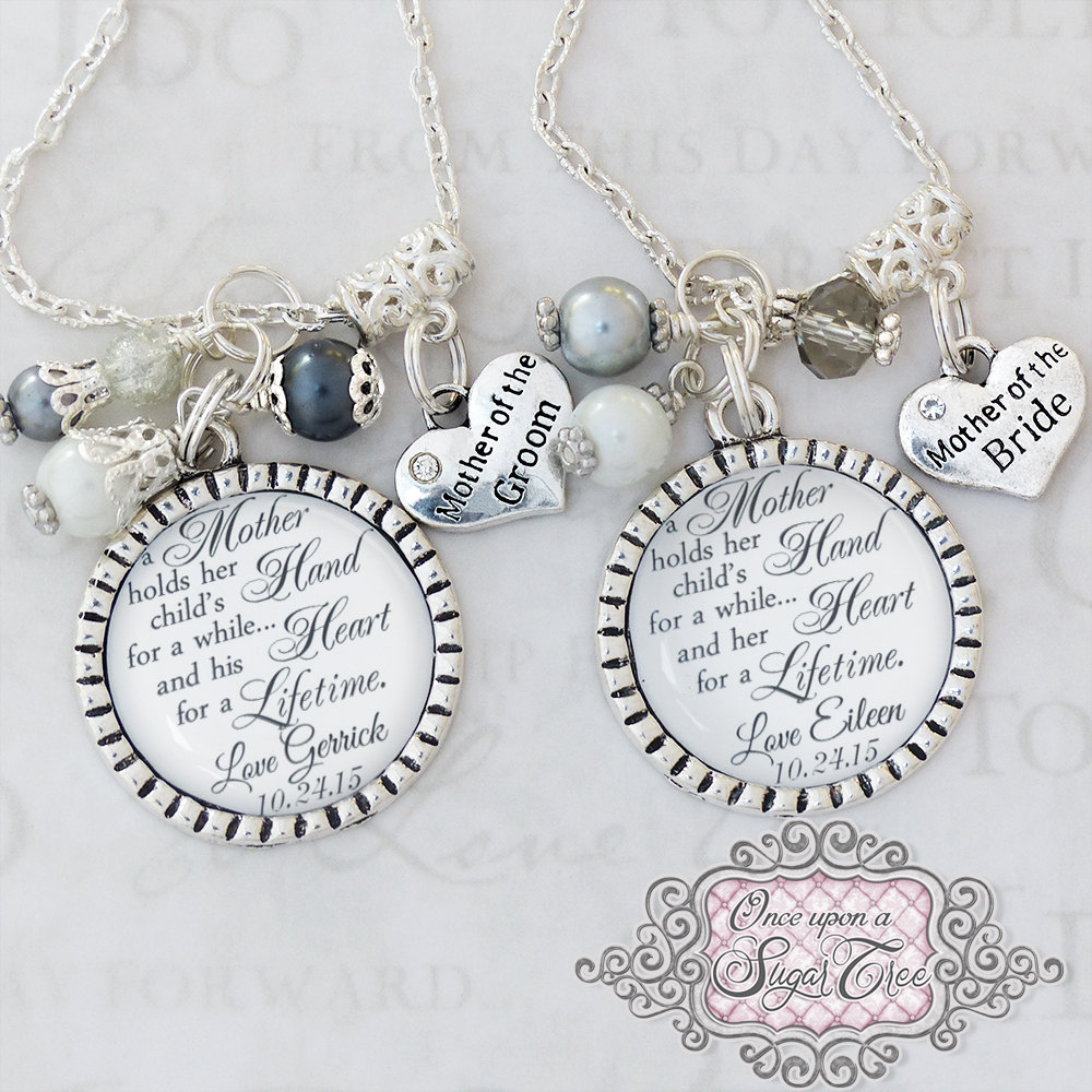 Personalized Wedding Set, Mother Of The Bride, Groom, Gift From Groom, Wedding Jewelry, Inspirational Jewelry