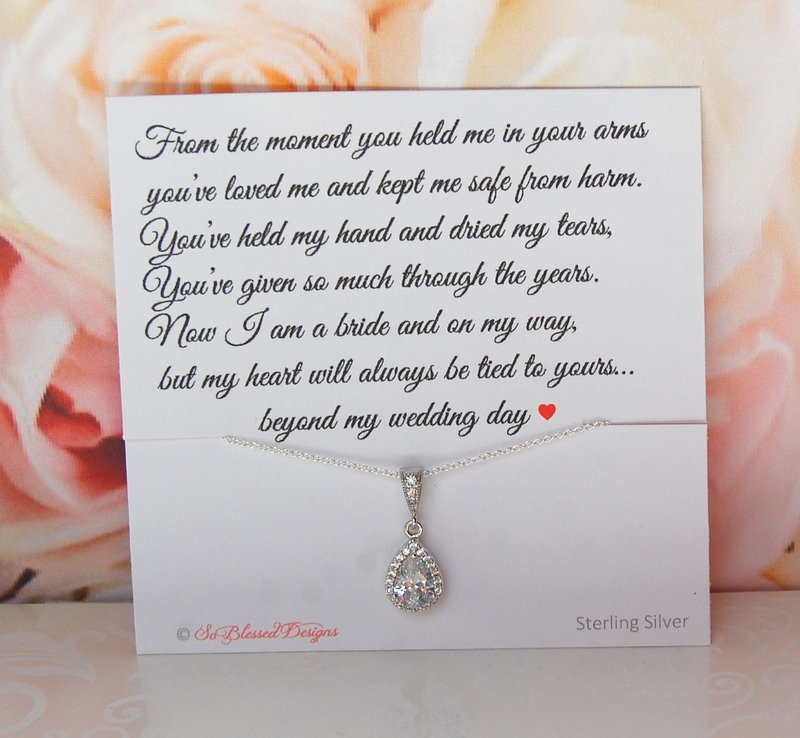 Mother Of The Bride Wedding Necklace, Gift, Groom Necklace