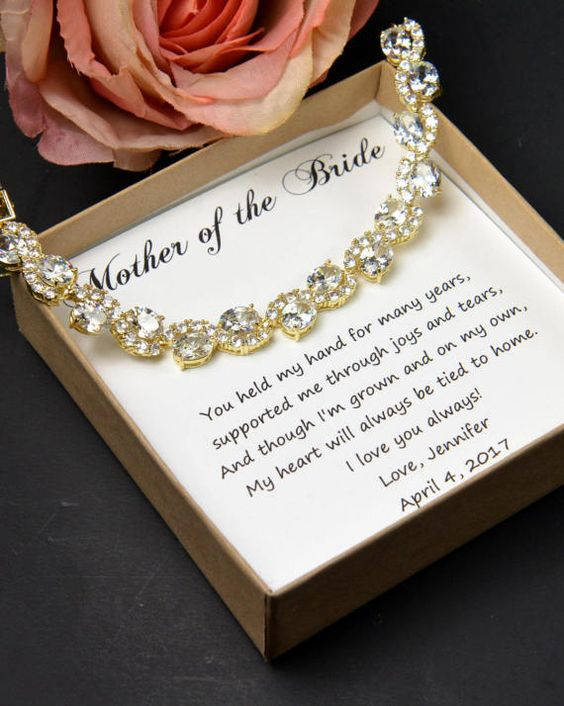 Custom Color -Mother Of The Bride Gift Mother Bride Wedding Jewelry Mother Bracelet