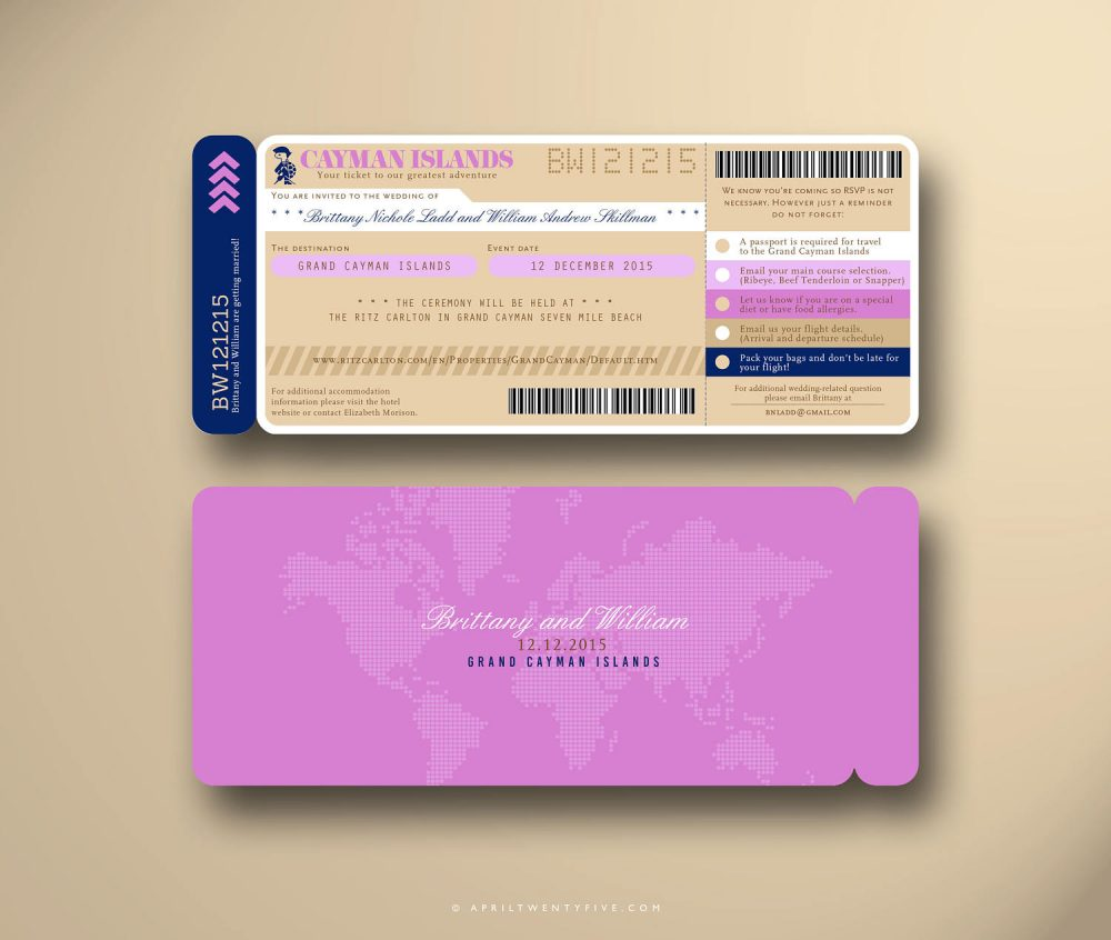 Boarding Pass, Wedding Invitation Suite, Plane Ticket, Airline Travel Inspired, Ticket Holder, Card