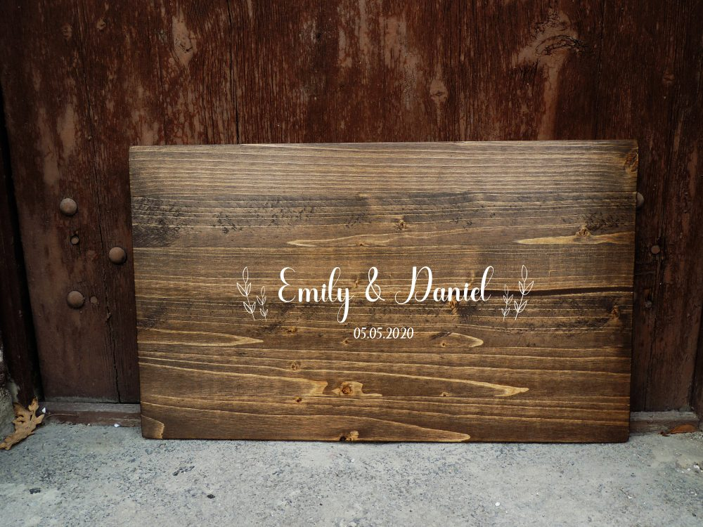 Rustic Wedding Guest Book Alternative | Calligraphy Name Design Decor Wood Sign Country Gift