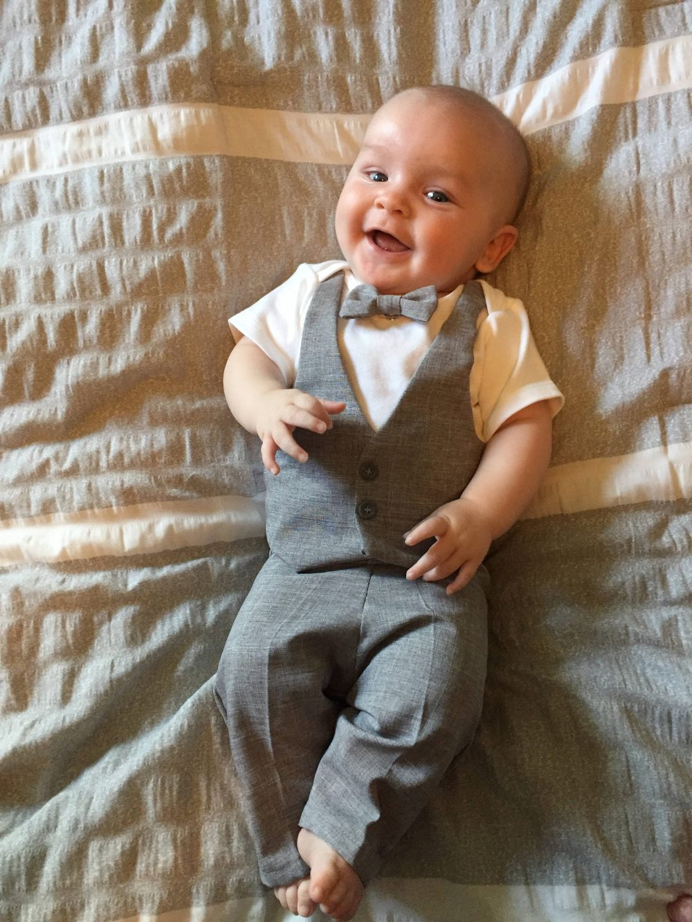 Baby Wedding Suit..infant Suit Grey..baby Ring Bearer..baby Outfit..outfit