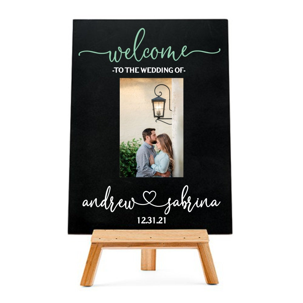 Welcome Wedding Sign, To Our Wedding, Chalkboard Sign Custom