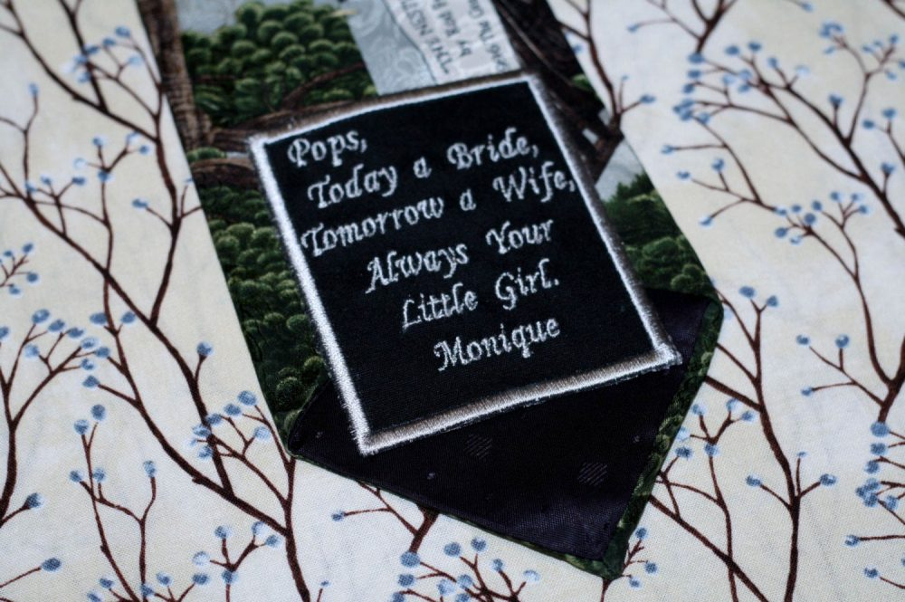 Wedding Tie Patch, Wedding Gift For Father Of The Bride, Groom, Groom Patch As Favor, Bridal Surprise