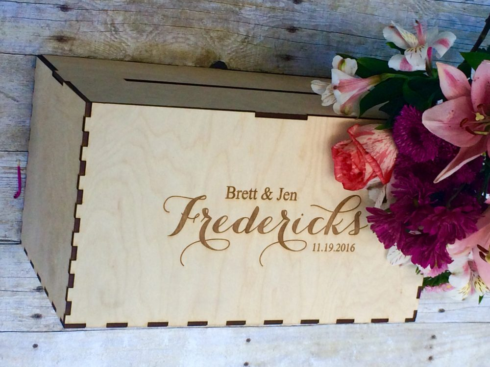 Rustic Wedding Card Box, Holder Decor, Personalized Box For Wedding, With Slot