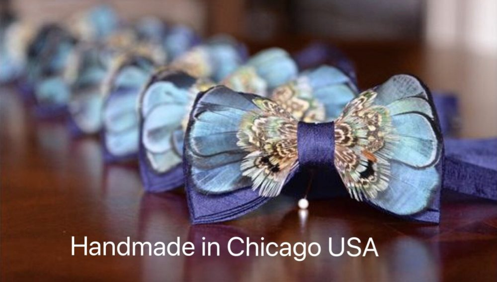Wedding Set Of Bowties Set For Groom Groomsmen Mens Navy Blue Feathered Bow Ties Kids Bowtie Feather Unique Tie Feathered