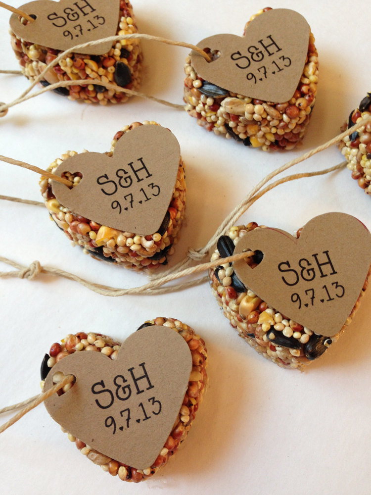 50 Bird Seed Favors - Mini Favors Rustic Wedding Favors, Party Shower Guest Anniversary Favor
