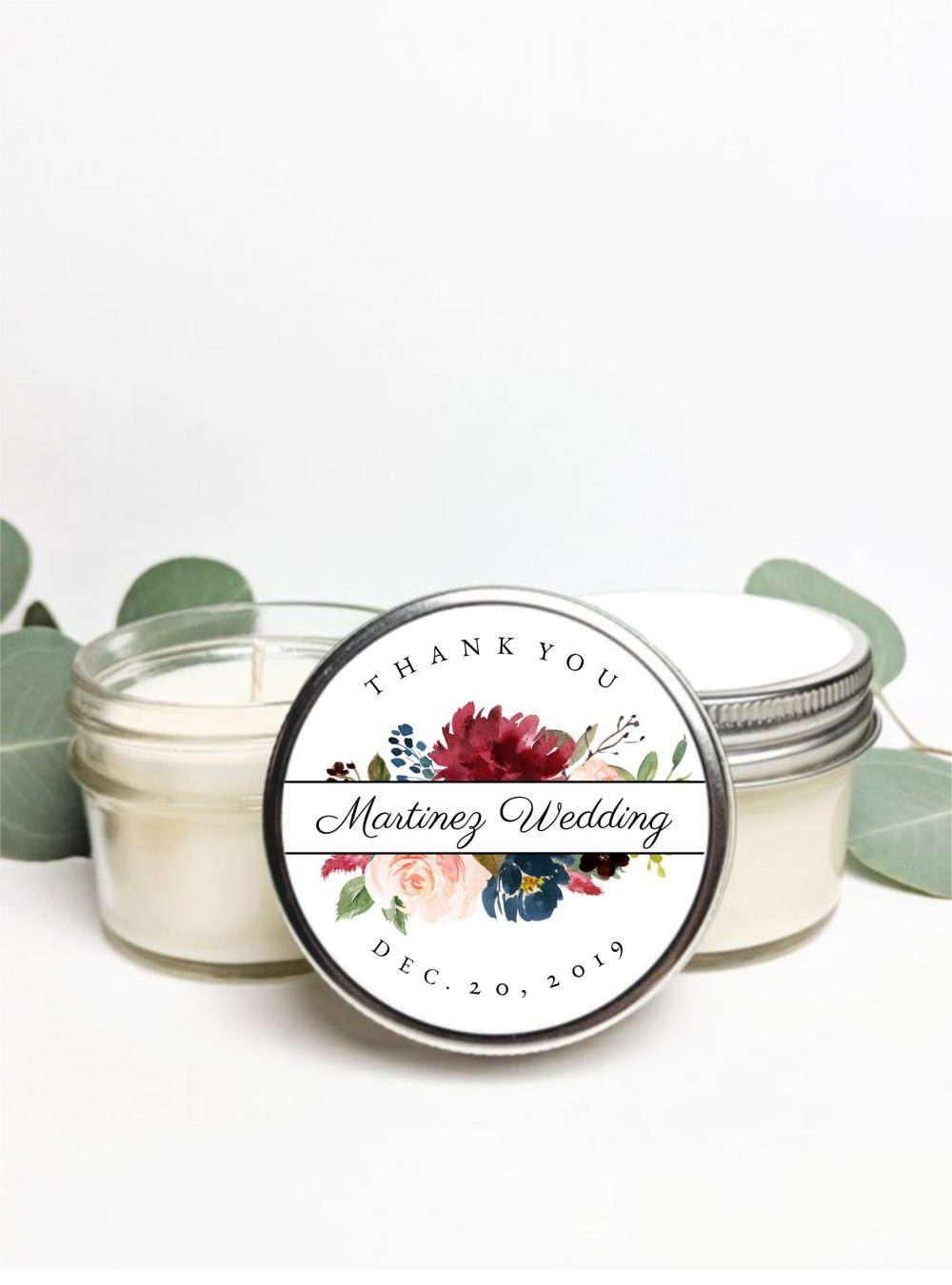 Set Of 50 Custom Wedding Favor Candles | Candle Favors Personalized Gift Soy Idea