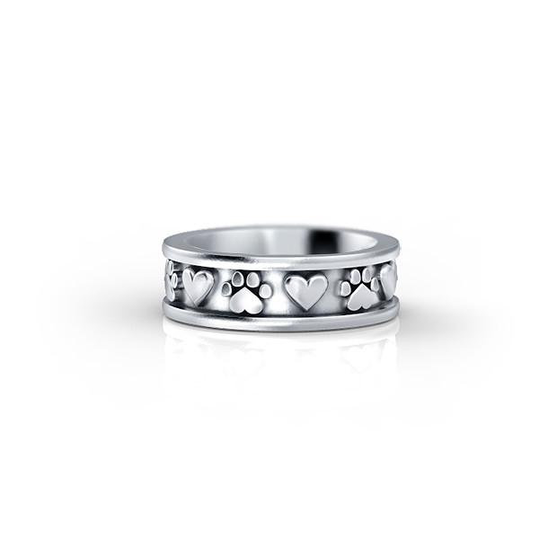 Paws & Hearts Eternity Band Ring