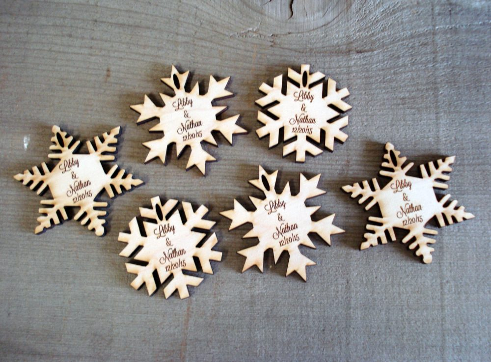 60 Snowflake Wedding Favors Winter Wedding