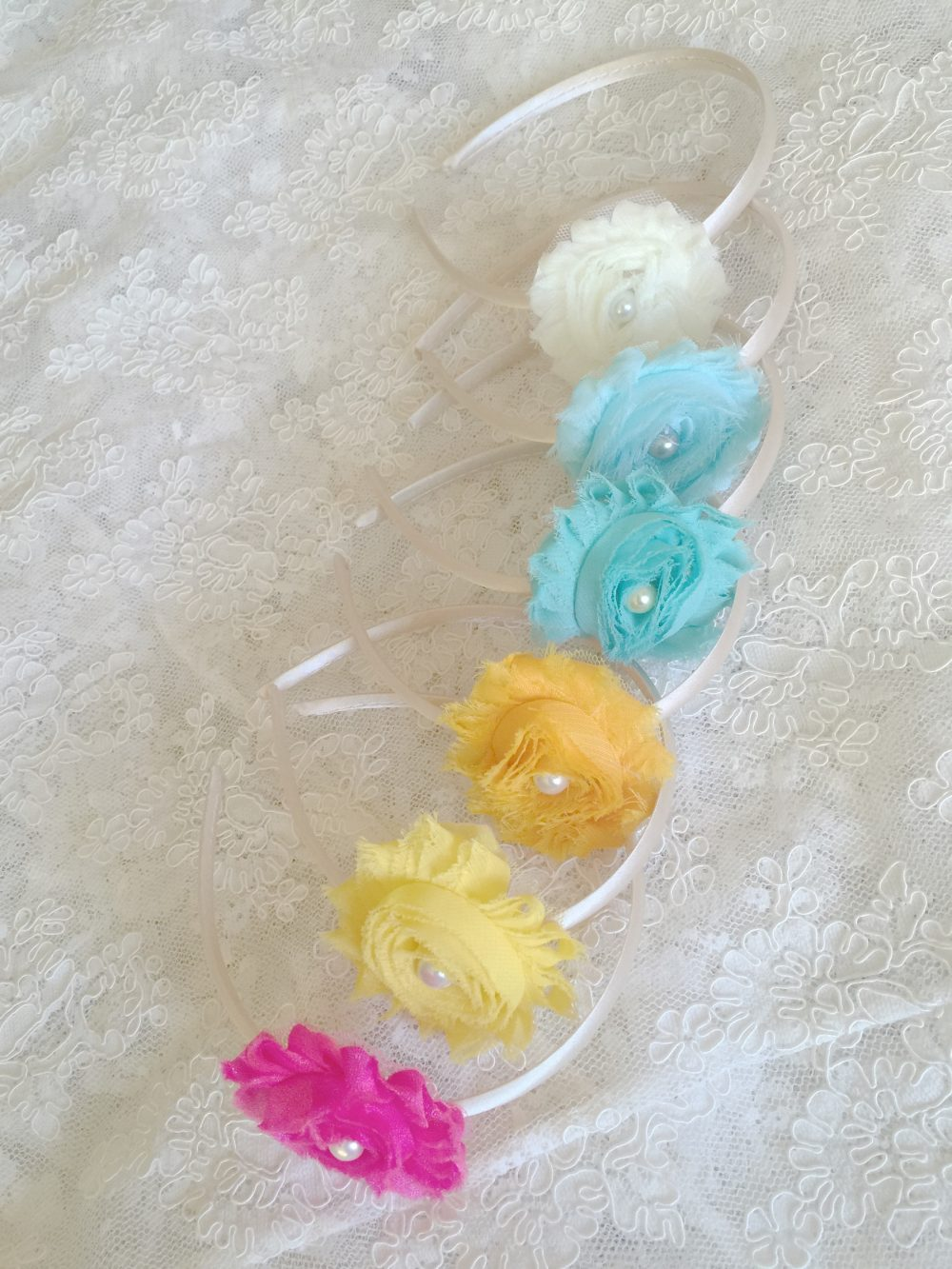 Sale Ivory Headbands, Yellow Toddler Headband, Flower Girls Headband Yellow, Ivory Headbands