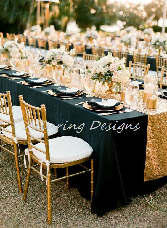 Sequin Linens Tablecloth Runner Overlay Wedding Event Party Anniversary Shower Bridal Reception Glitz Bling Decor Cake Sweetheart Table